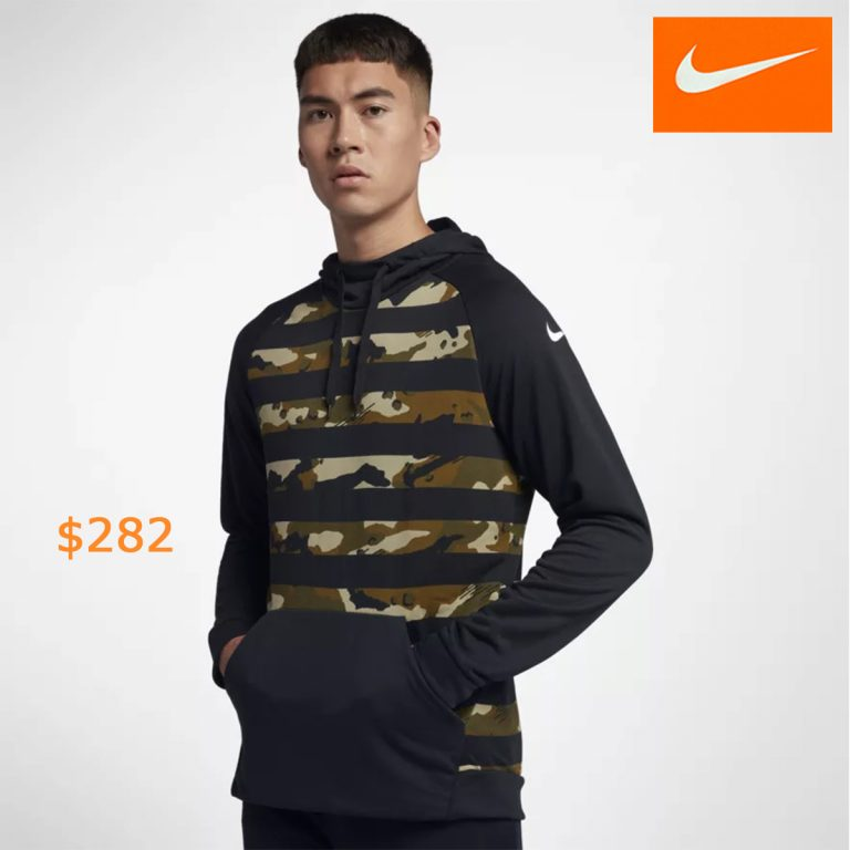 282Nike Dri-FIT Men's Camo Training Hoodie