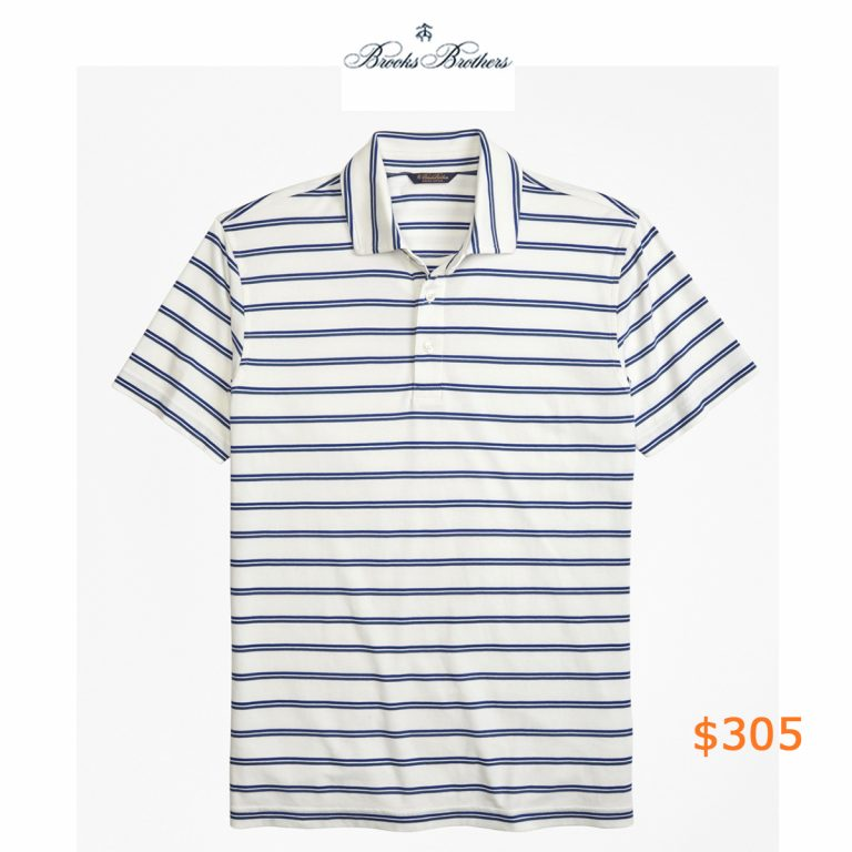 305Slim Fit Supima® Cotton Stripe Polo Shirt