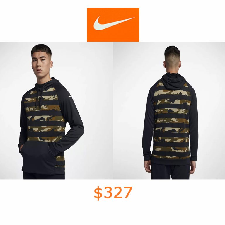 327Nike Dri-FIT Men's Camo Training Hoodie