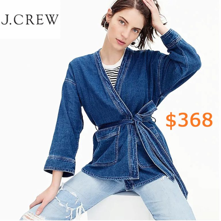 368Women's Drapey Indigo Wrap Jacket