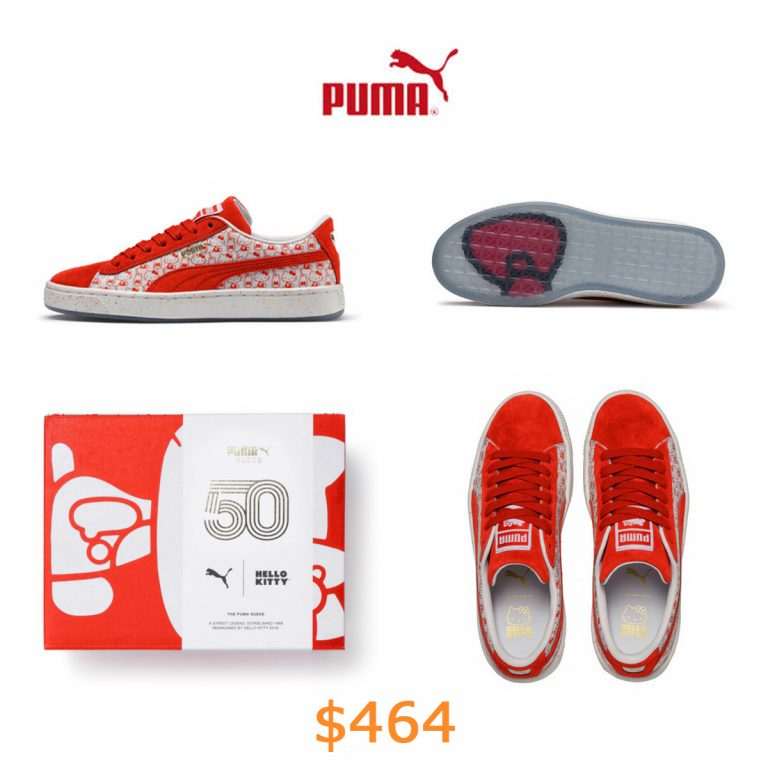 464PUMA x HELLO KITTY JR Suede
