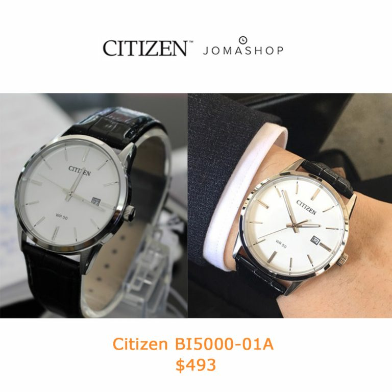 493Citizen White Dial Men's Quartz Watch BI5000-01A