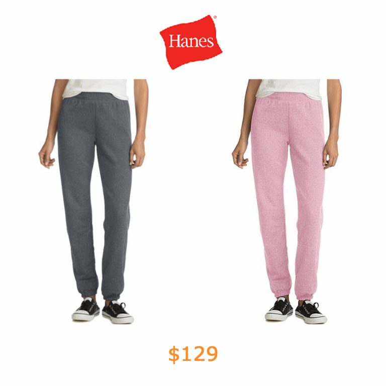 129Hanes Women's Cinch Bottom Leg Sweatpants