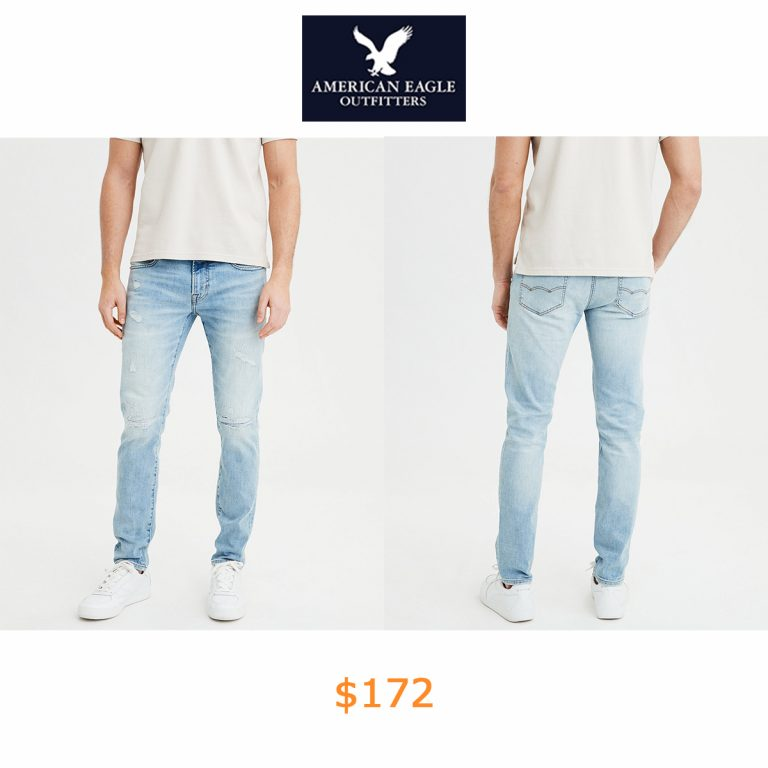 172AE Flex Super Skinny Jean, Light Destroy Wash