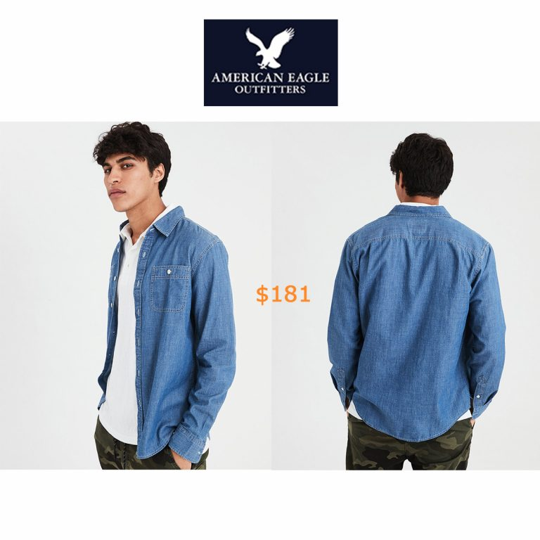 181AE Chambray Denim Button Down Shirt
