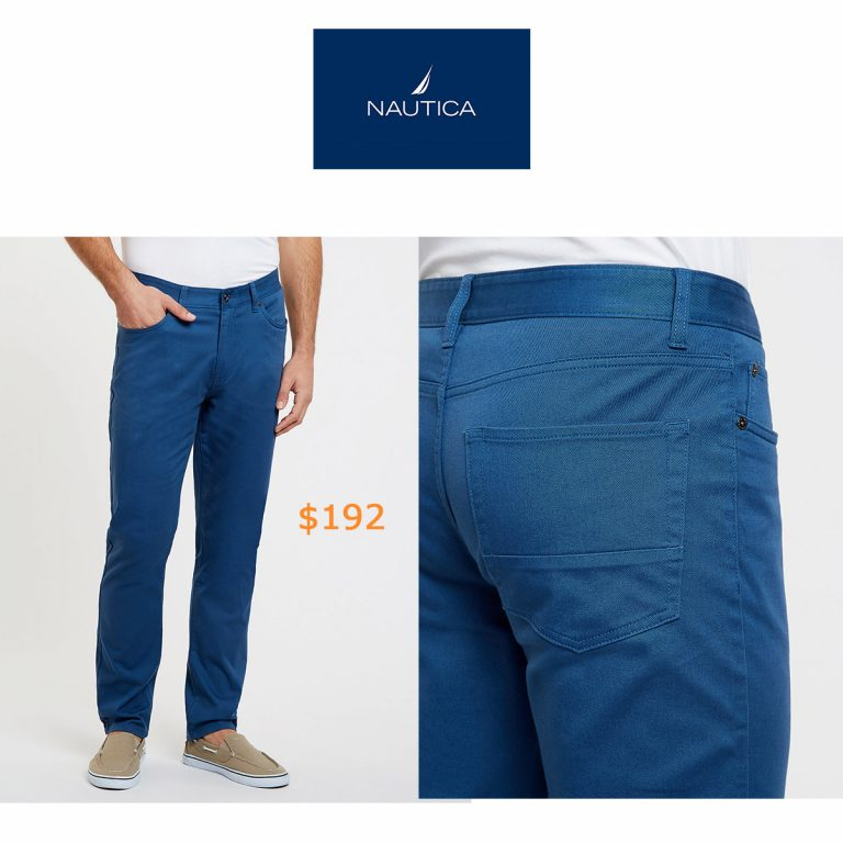 192Slim Fit Stretch Twill 5-Pocket Pants