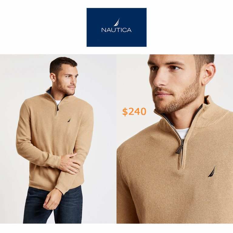240Long Sleeve Quarter-Zip Sweater
