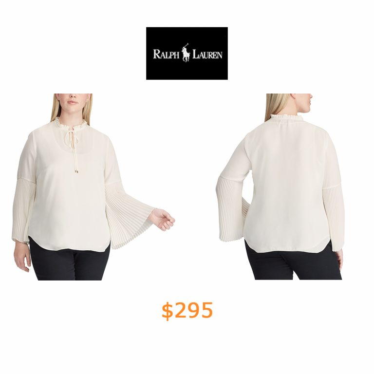 295Georgette Bell-Sleeve Top