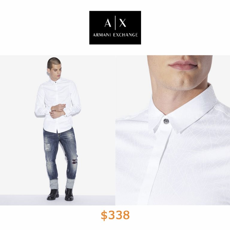 338SLIM FIT GEO LINES BUTTON DOWN SHIRT