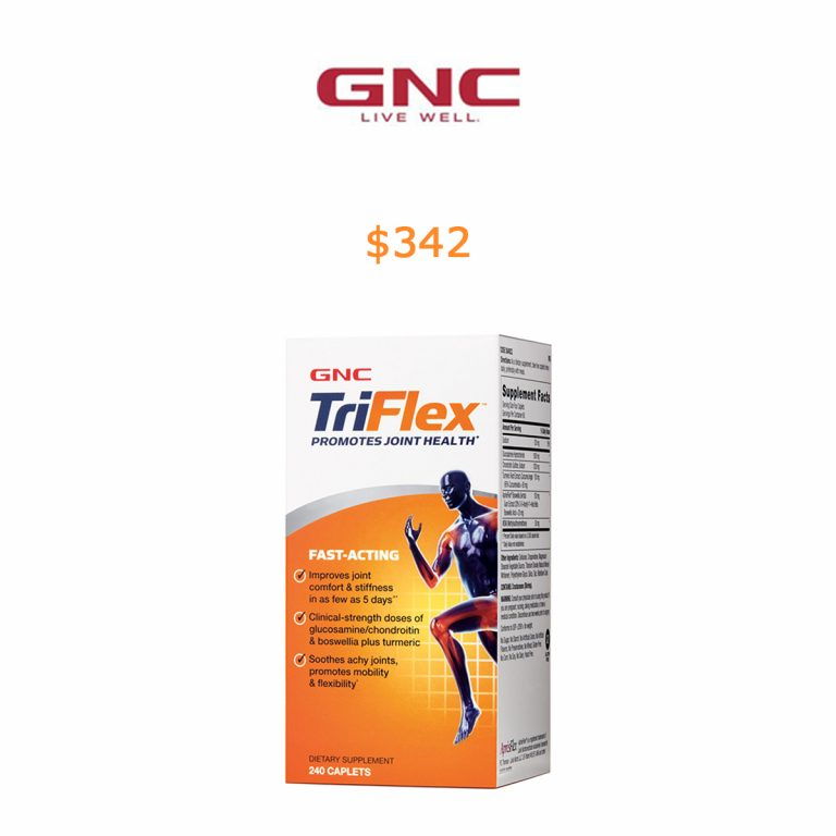 342GNC TriFlex™ Fast Acting - 240 Caplets - Joint Support Supplements