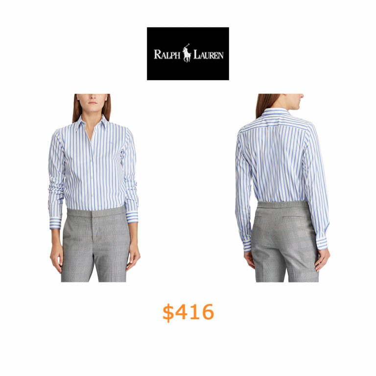 416Striped Button-Down Shirt