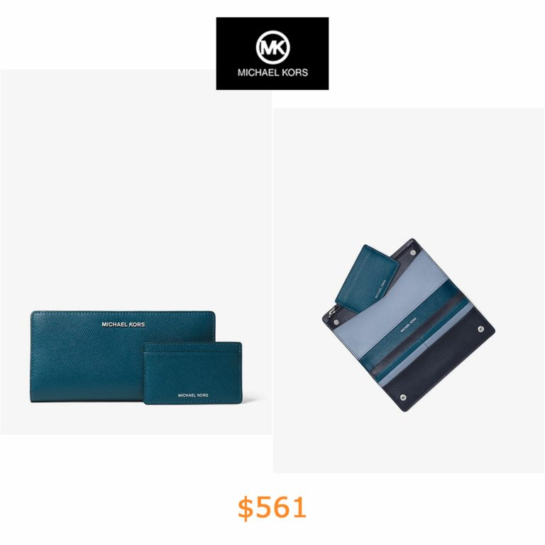 561Large Crossgrain Leather Slim Wallet