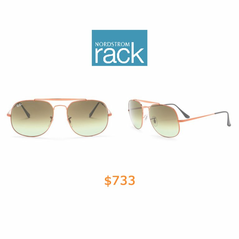 733Ray-Ban - 57mm Aviator Sunglasses