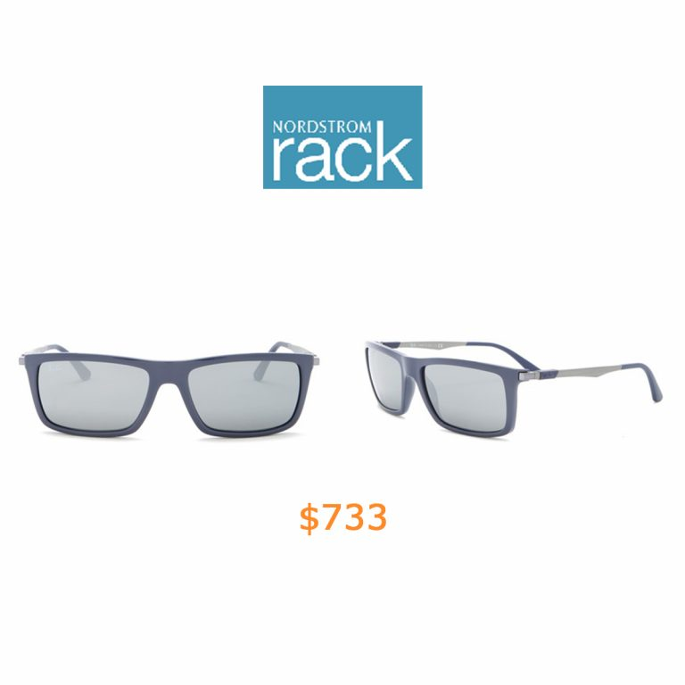 733Ray-Ban - 59mm Rectangular Sunglasses