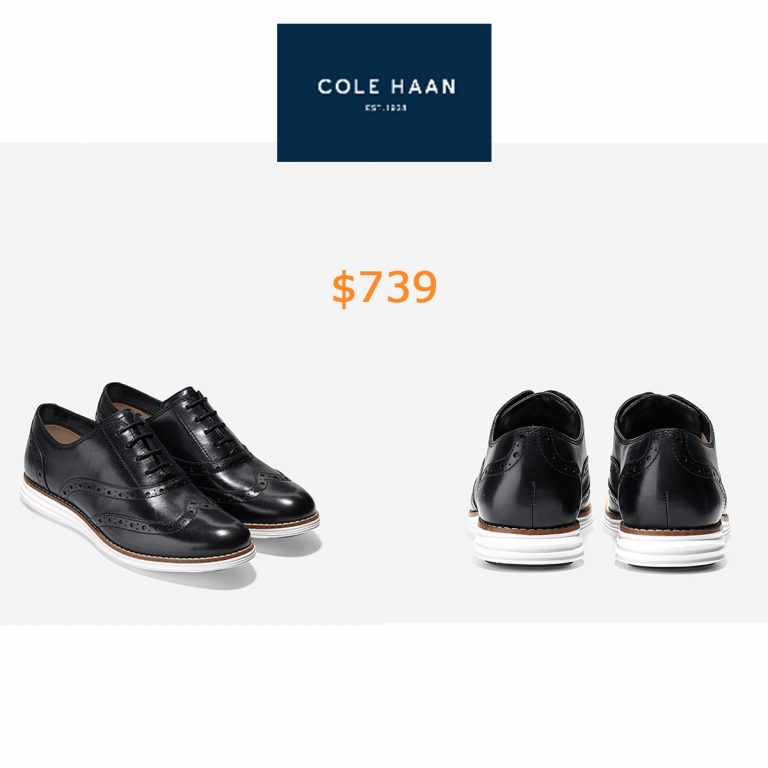 739 Women's ØriginalGrand Wingtip Oxford in Black-optic White