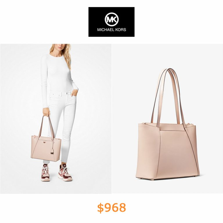 968Maddie Medium Crossgrain Leather Tote