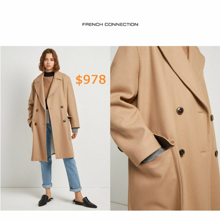 978Platform Felt Double Breasted Coat