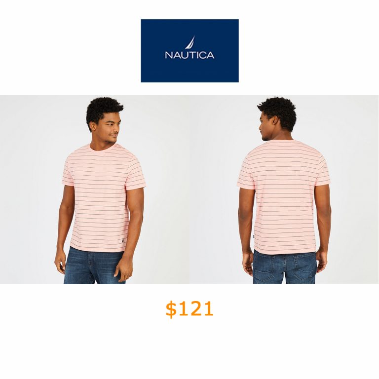 121Short Sleeve Striped Crewneck T-Shirt