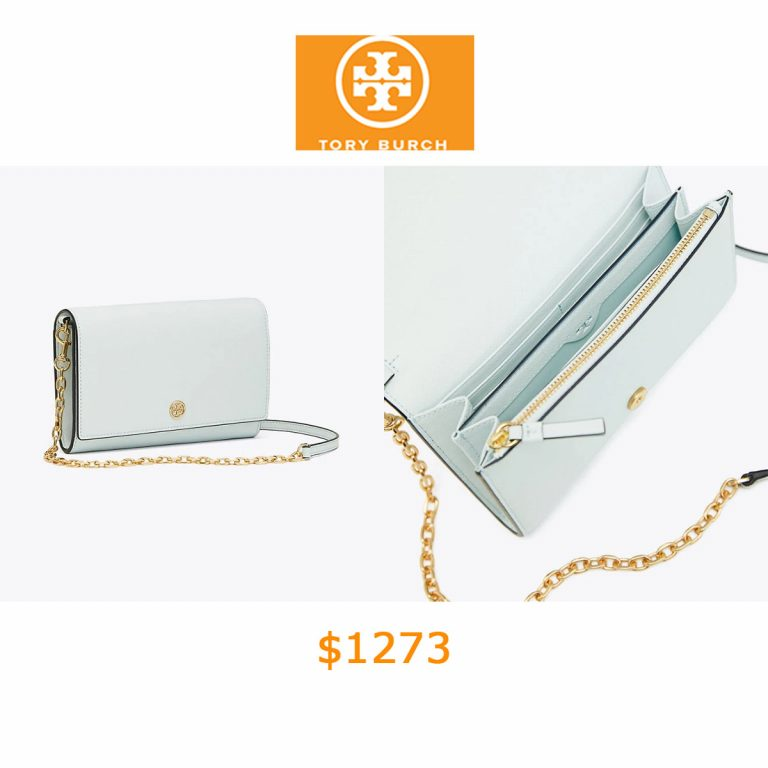 1273Tory Burch Robinson Chain Wallet