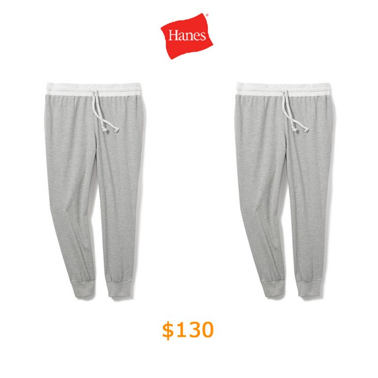 130Hanes Women's Plus French Terry Jogger Dorm Pant