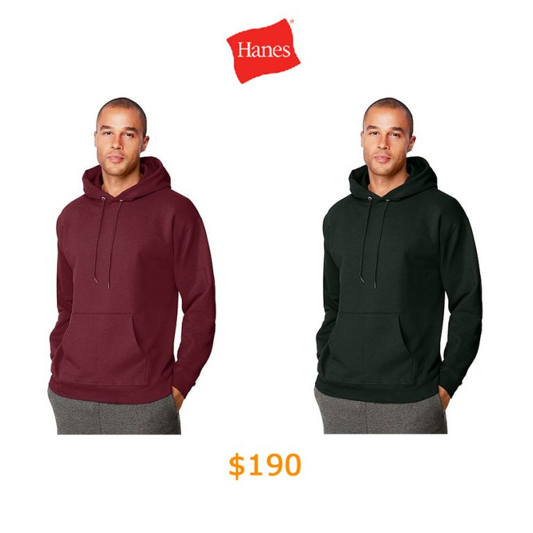 190Hanes Ultimate Cotton Pullover Hoodie Sweatshirt