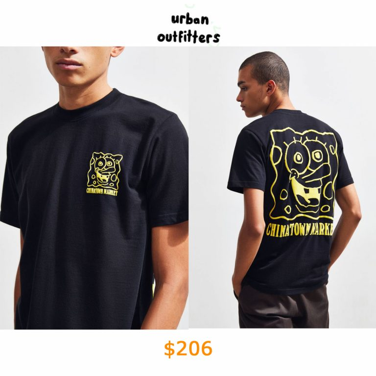 206Chinatown Market X SpongeBob SquarePants UO Exclusive Face Tee