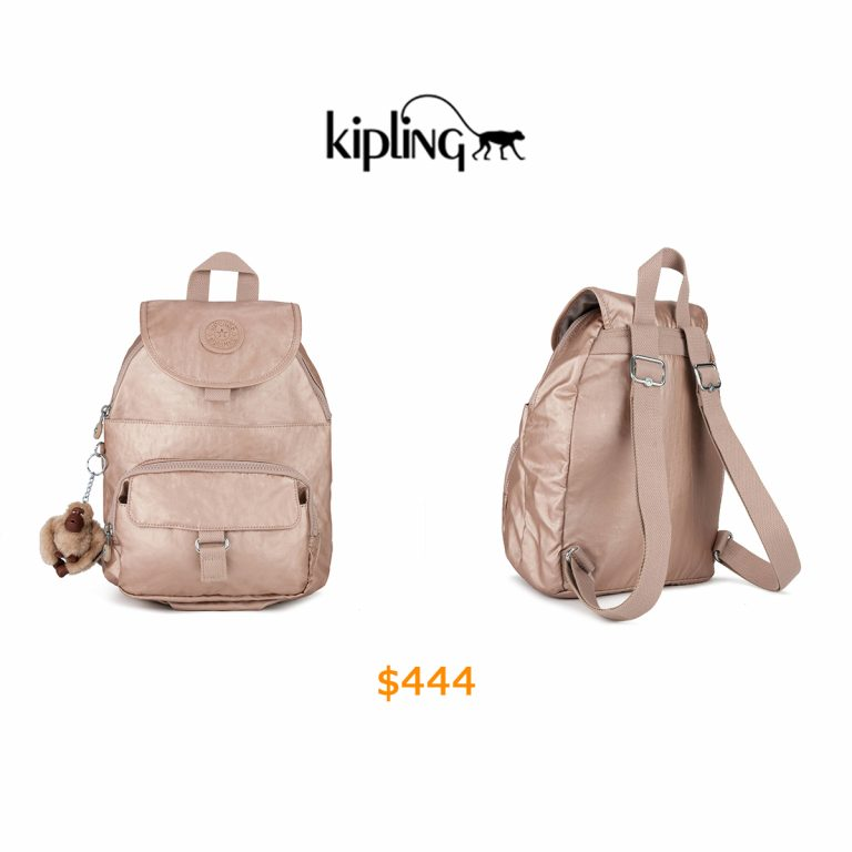 444Queenie Metallic Small Backpack