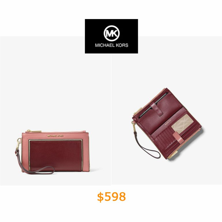 598Adele Two-tone Leather Smartphone Wallet