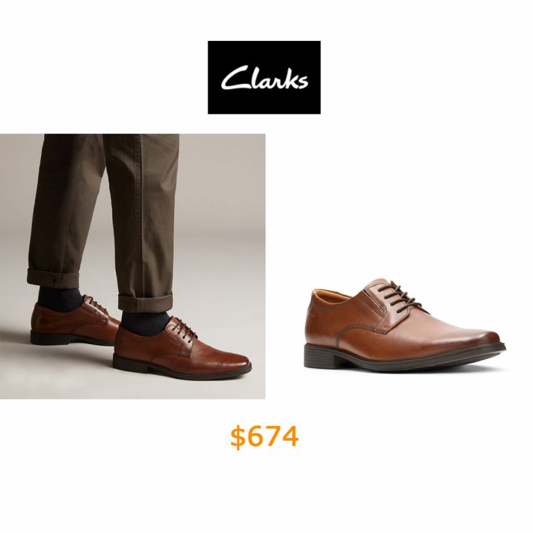 674Tilden Plain Dark Tan Leather