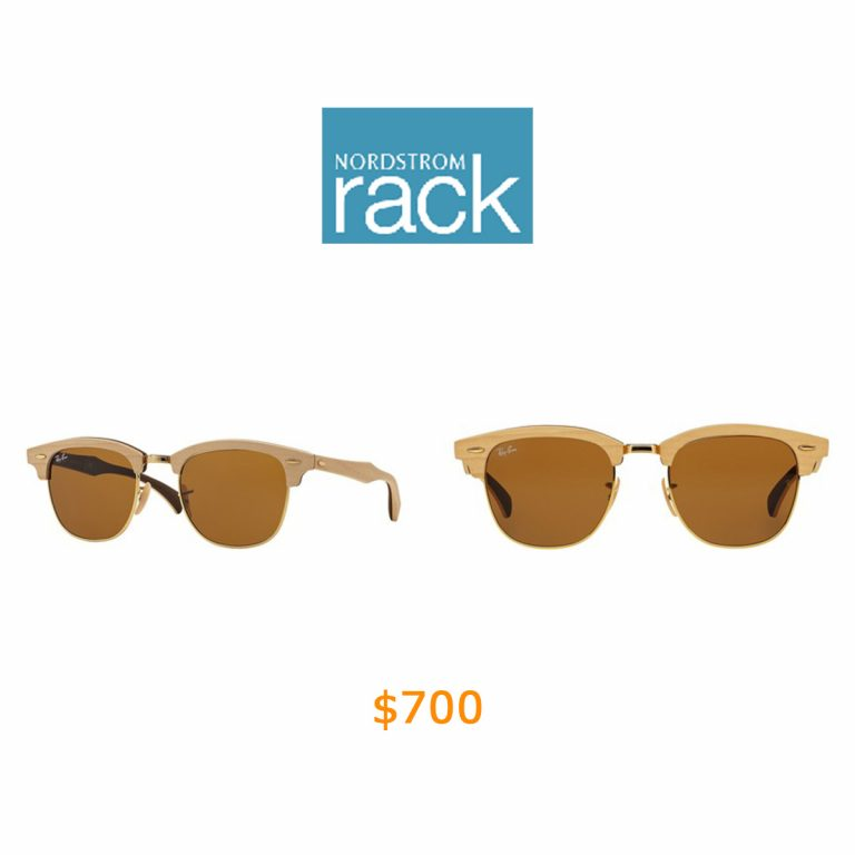 700Ray-Ban - 51mm Wood Clubmaster Sunglasses