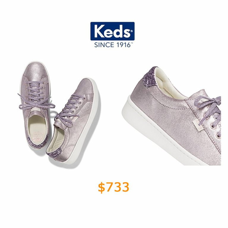 733Women - Keds x kate spade new york Ace Glitter Metallic Leather