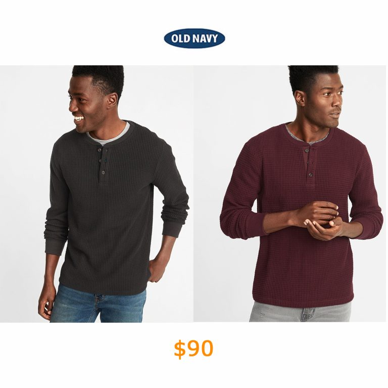 90Chunky-Textured Thermal-Knit Henley